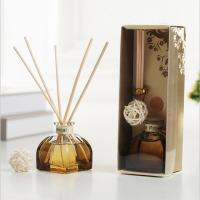 China Decorative Home Reed Diffuser Natural Essential Oil Aroma Glass Bottle Reed Diffuser for sale