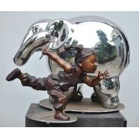 China Modern Outdoor Metal Figure Sculpture , Stainless Steel Animal Sculpture for sale