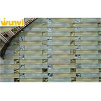 Wholesale Glass Mosaic Tile Of  Water Wave Style Transparent Mix Light Gray Color from china suppliers