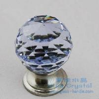 Buy cheap Purple Cut Crystal Drawer Knob With Brushed Nickel, Brass (110E-30ZD-TDNLS) from wholesalers