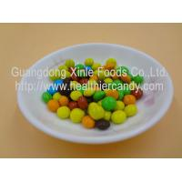 Wholesale Good Taste Crispy Chocolate Cacao Beans Yellow / Red / Blue Colour Jelly Candy from china suppliers