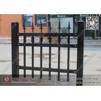 Wholesale 1.8m X 2.1m Ornamental Welded Metal Fence Panels with Black Color PVC coated from china suppliers