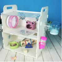 Wholesale Customized Acrylic pet house acrylic reptile box hamster cage,double layers acrylic comfortable hamster cage from china suppliers