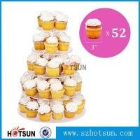 Quality Customized modern style 4 tier round plexiglass cake stand,acrylic cupcake stand wholesale from China for sale