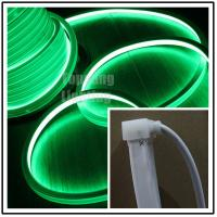 Wholesale Popular 24V DC flat green led neon flex16x16mm square shape for home decoration from china suppliers