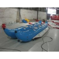 Wholesale Blue Inflatable Toy Boat / 6 Person PVC Inflatable Water Sports Banana Boat from china suppliers