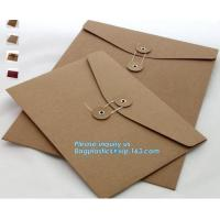 China Custom fancy paper envelope food packaging envelope business envelopes with self adhesive,a3 a4 a7 gold brown shipping k on sale