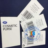 China Printed design jewelry label tag PVC material 250g 45mm*90mm cardboard blank swing tag for garments on sale