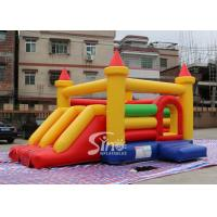 Kids Rainbow Inflatable Combo Bouncy Castle With Slide Made In China Inflatable Factory for sale
