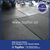 China Rubber Gym Flooring Tile for Fitness Center on sale