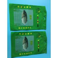 Wholesale Custom Printed Green 3 Sided Sealed Composite Fish Bag With Transparent Window In Front from china suppliers