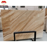 Wholesale Bookmatch Yellow and White Color Mulge Earl Royal Wood Grain Marble from china suppliers