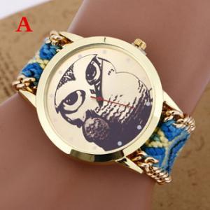 Buy cheap Brand Handmade Braided Owl Friendship Bracelet Rope Watch Quartz Wristwatch Ladies relogio from wholesalers