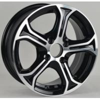 Wholesale Chrome Black 14 Inch Alloy Wheels , Aluminum Alloy Wheels With 14x6.0 Size KIN-593 from china suppliers