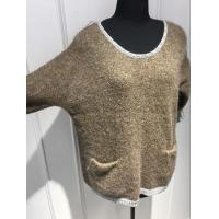 Quality Plush Hand Feel Oversized Knit Sweaters Pullover With Wool Nylon Alpaca Material for sale