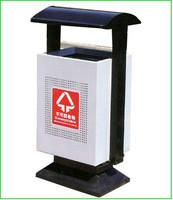 China Customized fire-proof, mothproof Outdoor park garbage cans with Stainless steel ashtray on sale