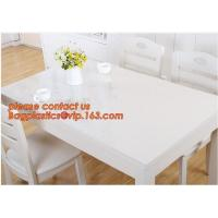 DIY Round PVC Table Cover Protector Desk Mat Table Cloth Pvc Transparent,stamping table cloth plaid PVC table cover