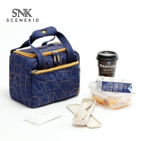 China Simple  Zipper Recycled Portable Insulated Washable Canvas Lunch Bag on sale
