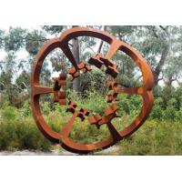 Wholesale Oxide Color Rusty Garden Sculptures , Metal Garden Flowers Sculpture 150cm Heigh from china suppliers