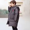 Bilemi Camel Solid Color Boys Parkas Fashion Warm Long Down Jacket Kids Winter Coats for sale
