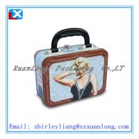 Wholesale 4 Color Printing Lunch Tin Box With Lock And Plastic Handle from china suppliers