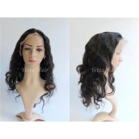 Tangle Free Pure Full Lace Human Hair Wigs Body Wave Density 150% for sale