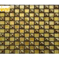 Wholesale Public Hall Decor Glitter Gold Mosaic Tiles , Mosaic Glass Wall Tiles from china suppliers