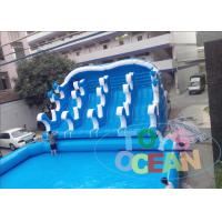 China Attractive Giant Durable PVC Inflatable Playgrounds Water Slide with Big  Pool on sale