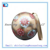 Wholesale promotional small ball shape metal candle boxes from china suppliers