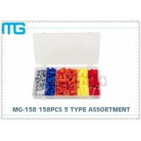 Wholesale Electrical Terminal Assortment Kit 158pcs , 5 Types Crimp Terminal Kit SP Connector from china suppliers