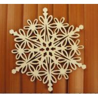 Wholesale 4 inch Unfinished Wood Snowflakes Ready to Paint and Decorate for the Christmas Holidays from china suppliers