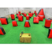Wholesale Outdoor Shooting Inflatable Sport Games , Red PVC Inflatable Paintball Guns from china suppliers