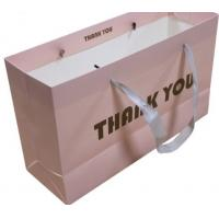 China Factory Made Paper Matt Black Custom Gift Bag with Logo Recycled Paper bag on sale