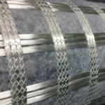 China Polyester Fiberglass Plastic Geogrid Geocomposite Bonded For Asphalt Road for sale
