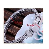 Wholesale Vintage 925 Sterling Silver Wheat Chain Link Bracelet for Men(B17060201) from china suppliers