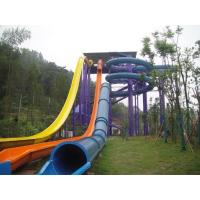 Wholesale High Speed Swimming Pool Water Slides Funny Water Amusement For Holiday Resort Visitors from china suppliers