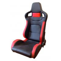 Wholesale PVC Adjustable Red And Black Racing Seats / Sports Car Seat with single slider from china suppliers