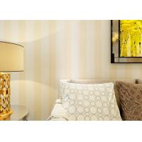 Quality Eco-friendly Vinyl Stripes Modern Removable Wallpaper for Living Room for sale