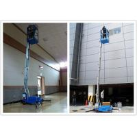 Quality Electric Aerial Order Picker 10 Meter Platform , Aluminum Alloy Hydraulic Aerial Lift for sale