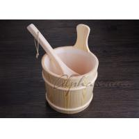 Buy cheap 3L Sauna bucket and ladles with PE plastic liner , sauna water bucket from Wholesalers