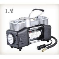 China Double cylinder with light 12V mini air compressor car tyre inflator on sale