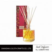 Red Applique Home Reed Diffuser No Fade For Anniversary / Business Gifts