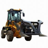 Buy cheap Wheel loader with grab wood fork from wholesalers