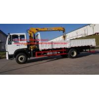 Wholesale 5T 8M3 Capacity Cargo Box 140hp Flatbed Truck With Crane Max Speed 90 /102 Km / H from china suppliers