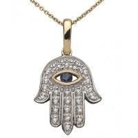 Wholesale 925 Silver Hamsa Hand Jewelry Hand of Fatima Evil Eye Necklace from china suppliers