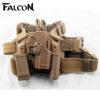 Buy cheap China import Blackhawk HK USP tactical puttee thigh belt drop Leg holster pouch Sand color from wholesalers