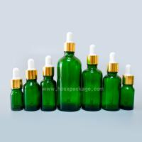 Wholesale 5ml-100ml Cobalt Green Aromatherapy Essential Oil Glass Container Bottle With Dropper from china suppliers