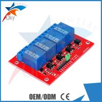 China Demo Code 4-channel Arduino Relay Module , 5V / 12V Relay Control Module on sale