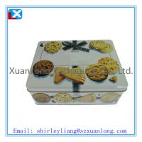 Wholesale Rectangle shaped cookie storage tin box from china suppliers