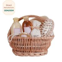 China Organic Bath Gift Baskets With Shower Gel Body Lotion Bath Salt Body Butter Soap for sale